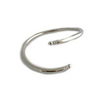 Twisted Snake Cuff -Silver: Seen on Emily Palos!