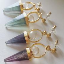 Spell Cone Earring - Amethyst