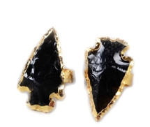 Golden Arrow Ring Onyx