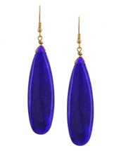 Oval Blue Stone Earrings *Limited Edition*