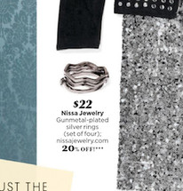 People Stylewatch Ring Set! As featured in December Issue!