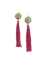 Morocco Earrings - Burgundy