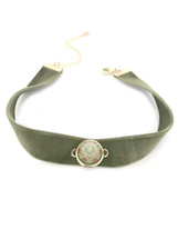 Morocco Velvet Choker -Olive: Seen on Today Show!