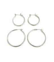 Hooped Up Hoops Set - Silver