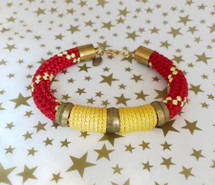 Red and Yellow Rope Bracelet