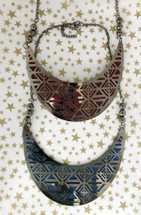 Suede Lined Bib Necklaces