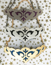 Vega Suede Lined Bib Necklaces