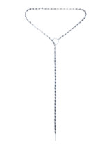 Ball And Chain Lariat Wrap Necklace -Silver