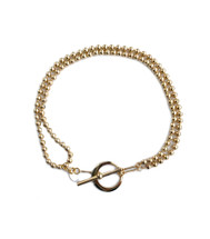 Ball And Chain Necklace -Gold