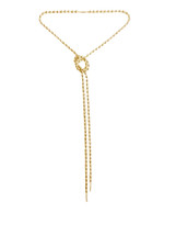 Any Way You Want Me Wrap & Tie Necklace -Gold