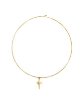 Criss Cross Collar Necklace - Gold
