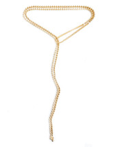 Free Fallin' Wrap & Tie Necklace -Gold