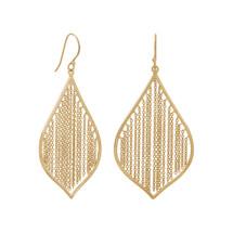 Fringe Leaf Earrings - Sterling Silver