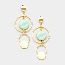 Minty Hoop Drop Earrings