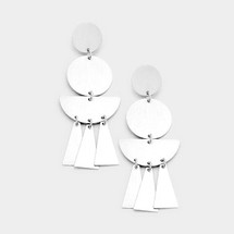 Silver Dangle Drop Earrings