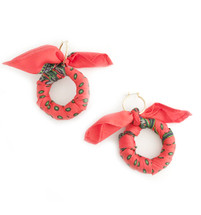 Scarf Hoop Earrings RED - Seen on Dawn McCoy, Julia Comil, Code of Styleand Lyndsay Luv!