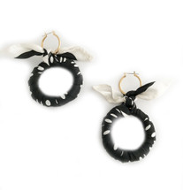 Scarf Hoop Earrings BLACK - Seen in OPRAH O MAGAZINE!!