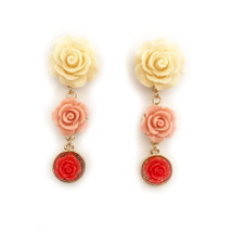 Ombre Rosette Earrings: Seen on Liza Dean & Debbie M on Home & Family!!