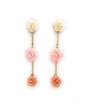 In The Pink Rosette Earrings