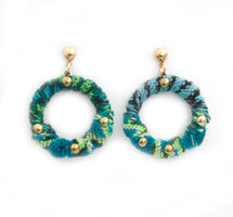 Blue Gypsy Hoops - Blue: Seen on Rossana Vanoni!