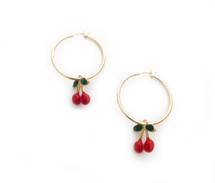 Cherries Hoops: Seen on Natalia Baruch!