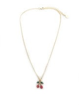 Cherries Necklace: Seen On Chris Han!