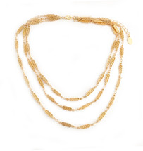 Aztec Bars Layered Necklace - Gold
