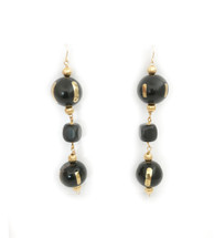 Ebony Ball Drop Earrings: Seen on Code of Style & Current Crush!