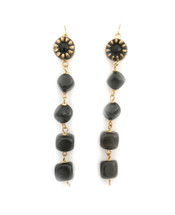 Ebony Line Drop Earrings