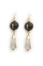 Ebony Quartz Earrings