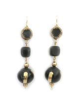 Ebony Triple Earrings: Seen On The Code Of Style!