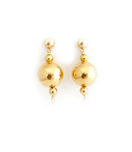 Gold Disco Ball Earrings