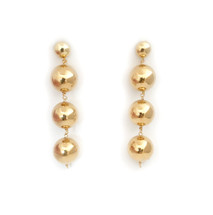 Golden Ball Drop Earrings: Seen on Jules Lookbook & The Code Of Style!