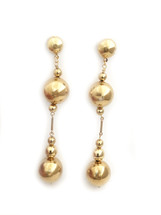 Golden Bar Ball Drop Earrings: Seen On Miss Moore Style!