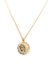 LOVE Pendant necklace: Gold