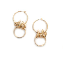 Medium Twist Hoops - Gold
