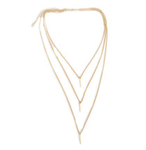 Pre-Layer Triple Drop Necklace -Gold