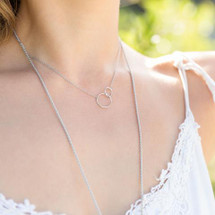 Linked Circles Necklace (Sterling): Gold, Silver Or Rose