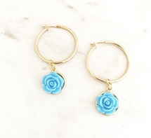 Closed Flower Hoops: Blue