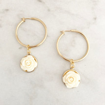 Closed Flower Hoops: ivory
