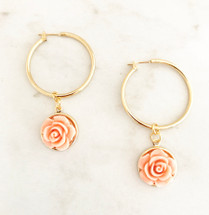 Closed Flower Hoops: Peach