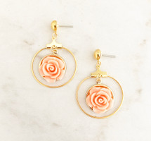 Rose Hoops: Peach