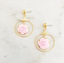 Rose Hoops: Pink