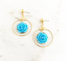 Rose Hoops: Blue