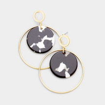 Black & White Disc Earrings *Limited Edition*