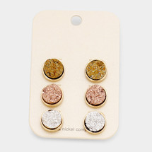 Three Little Druzies Earring Set *Limited Edition*