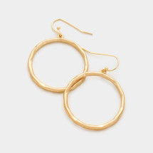 Hammered Gold Hoops *Limited Edition*