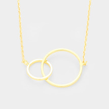 Double Hoop Necklace -Gold *Limited edition