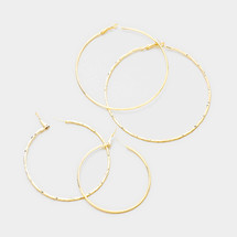 Gold Hoop Earrings Set of 4 *Limited Edition