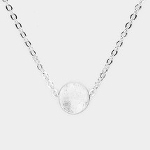 Tiny Circle Necklace -Silver *Limited Edition*